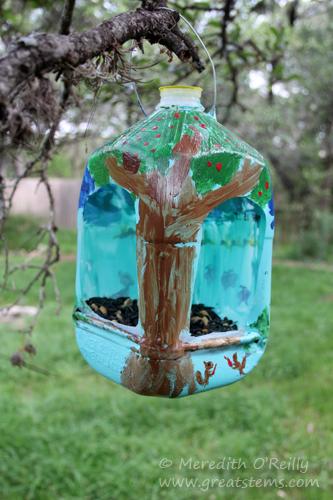 Wildlife Projects For Kids Milk Jug Bird Feeders Great
